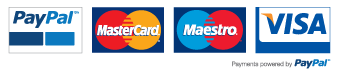 Payments by Paypal Mastercard Maestro Visa